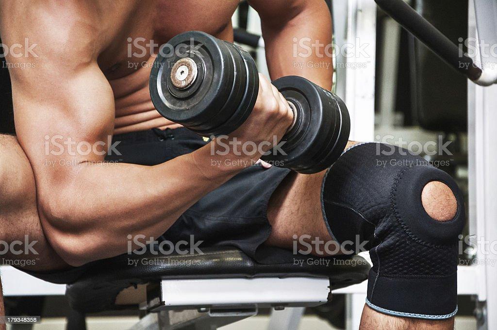Biceps pump stock photo
