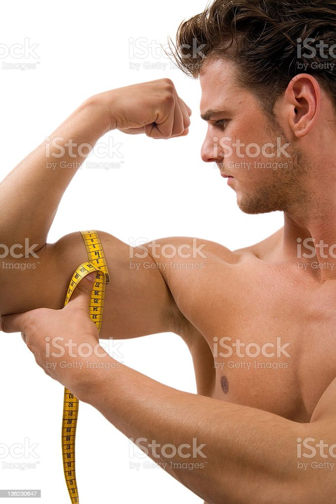 Biceps Size royalty-free stock photo