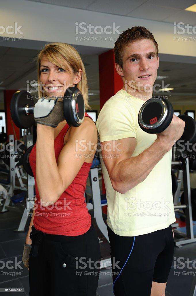 Biceps weight training royalty-free stock photo