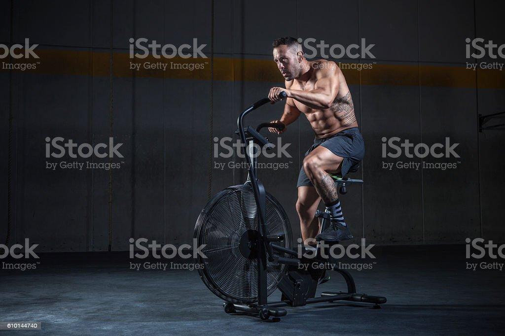 bicicleta estatica stock photo