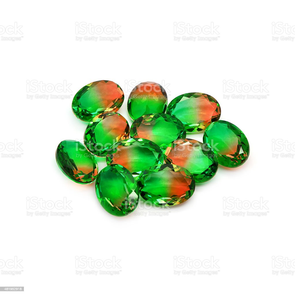 Bicolor gems stock photo