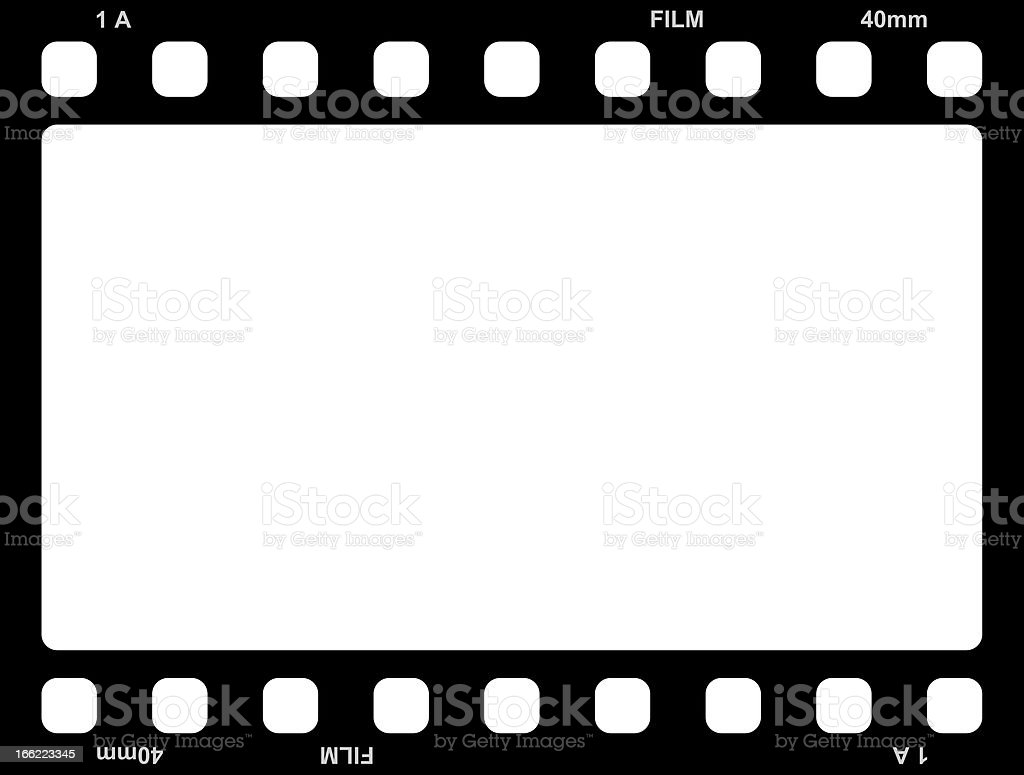 Bicolored image of a 40mm roll of film stock photo