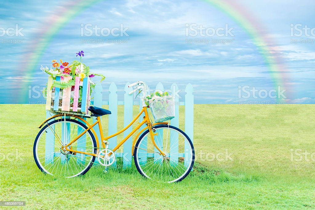 Bicycle and beautiful nature. royalty-free stock photo