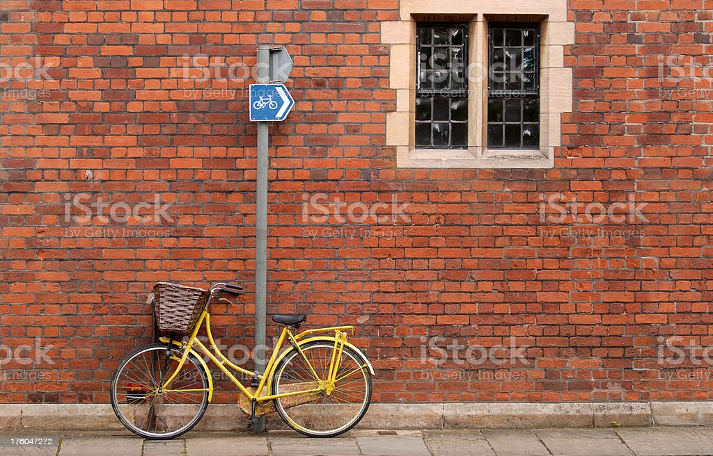 Bicycle and window. royalty-free stock photo