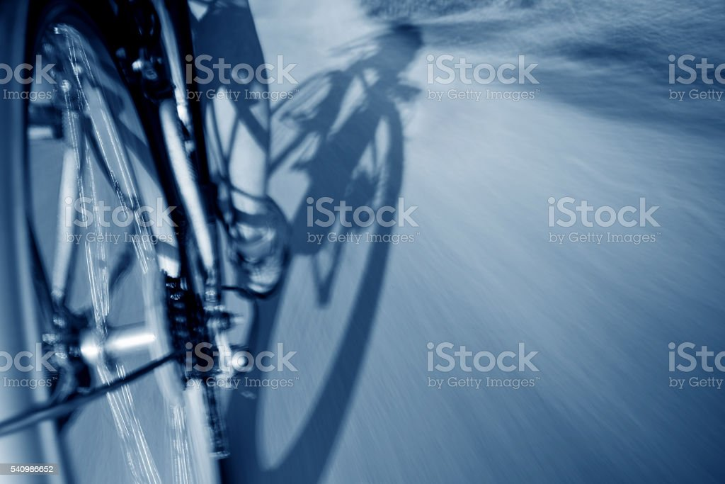 Bicycle at speed stock photo