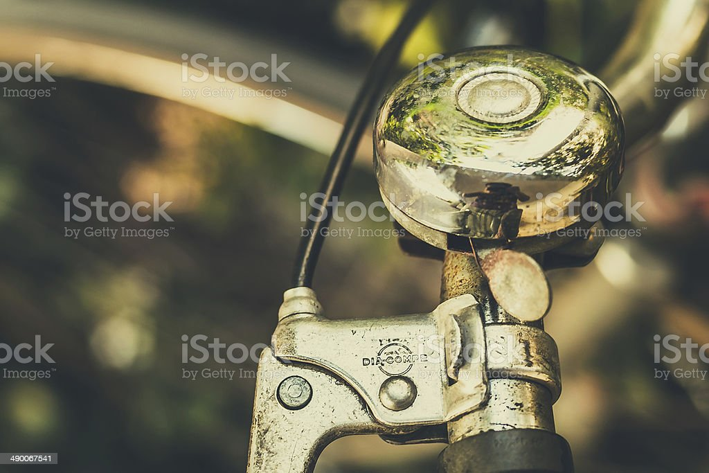 Bicycle Bell Close Up stock photo