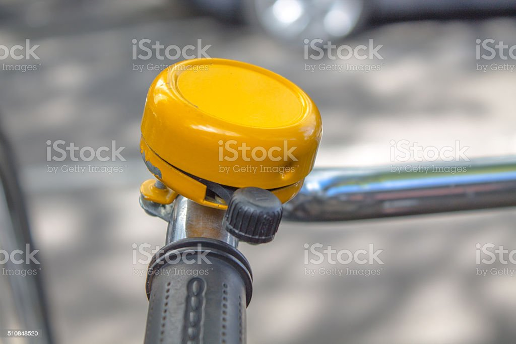 bicycle Bell Yellow stock photo
