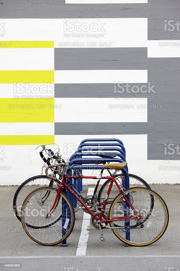 Bicycle Bike Rack stock photo