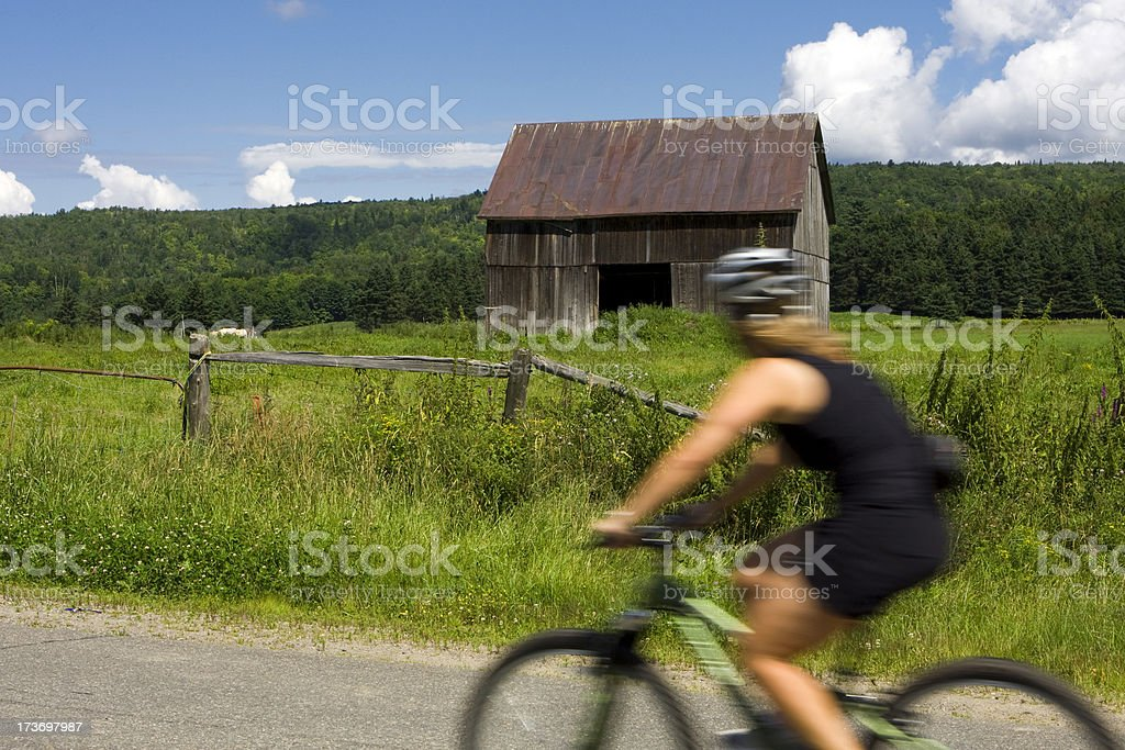 Bicycle blured motion stock photo