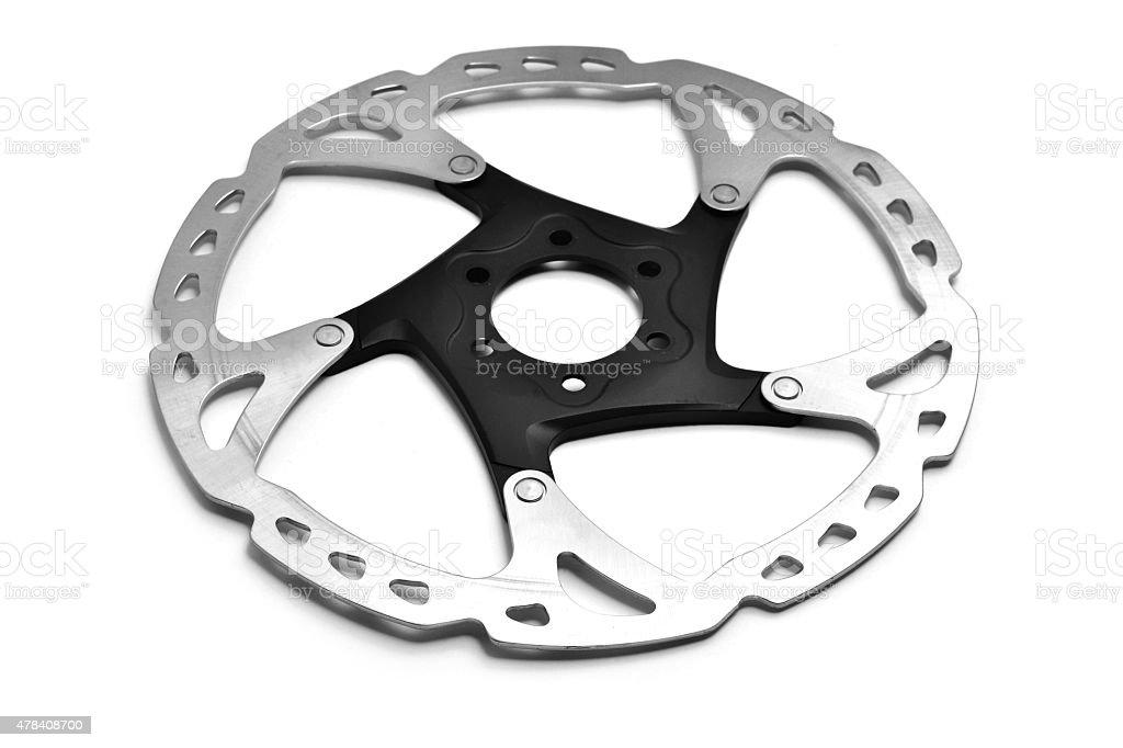 bicycle brake disc stock photo