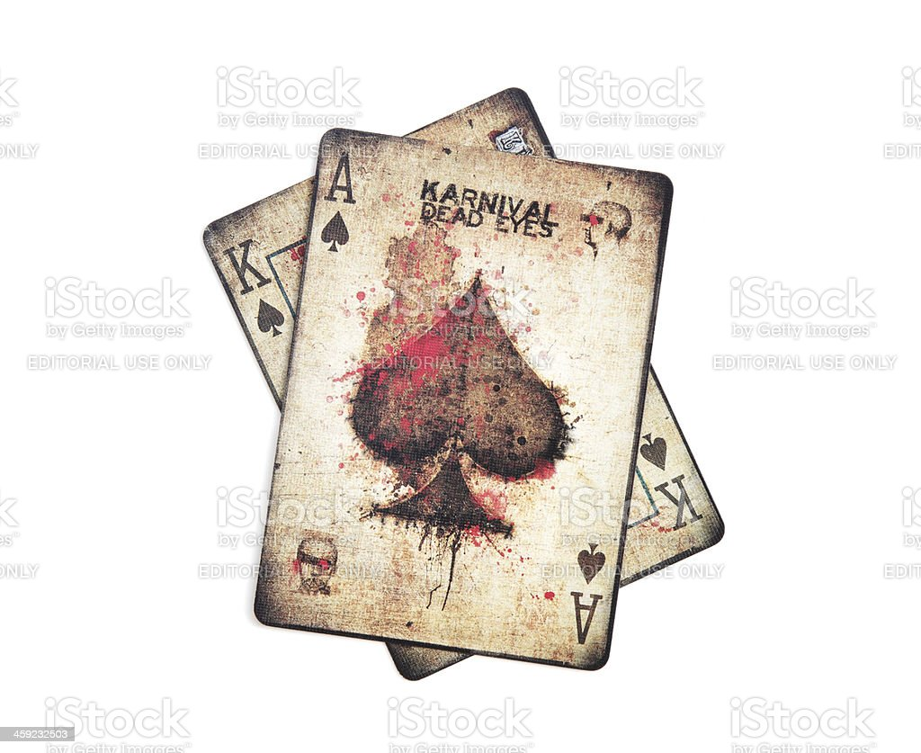 Bicycle brand Karnival Dead Eyes playing cards stock photo
