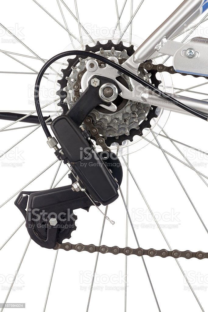 Bicycle Chain and Gears stock photo