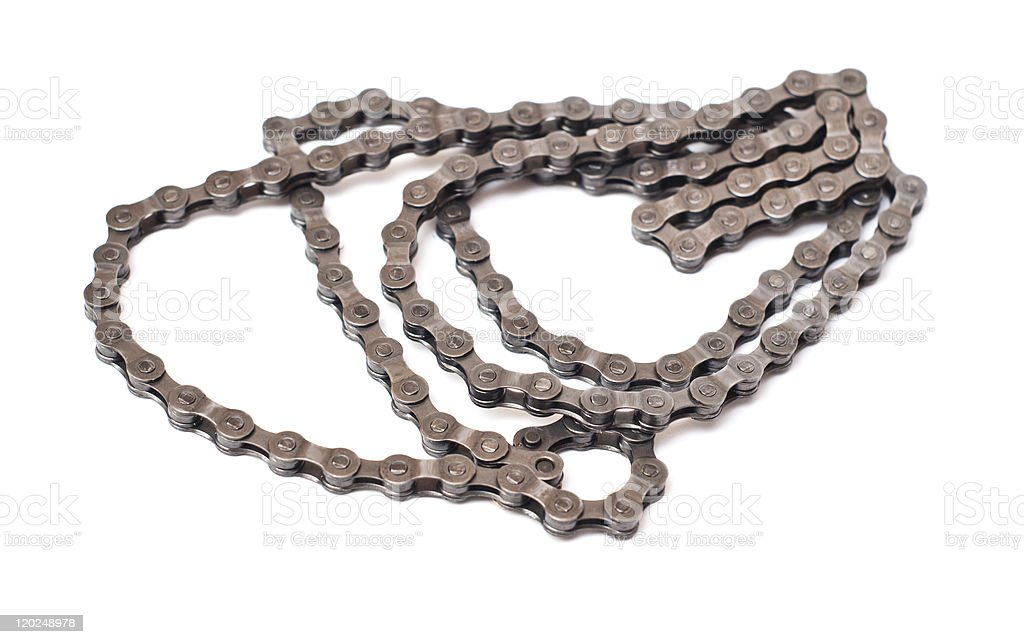 Bicycle chain isolated stock photo