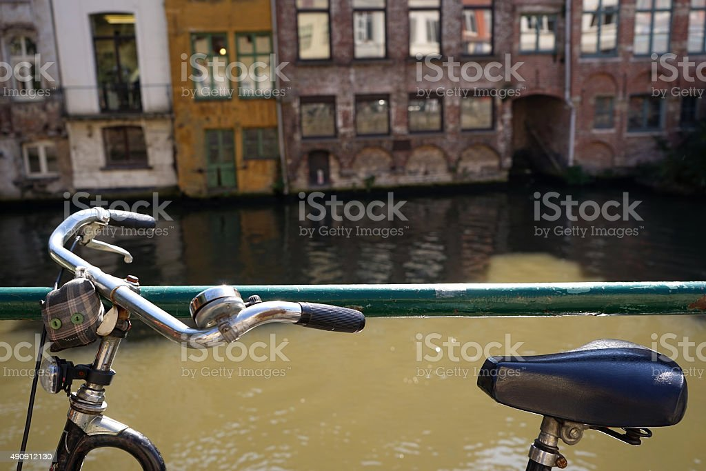 Bicycle City stock photo