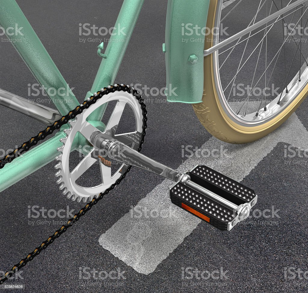 Bicycle Close Up With Clipping Path stock photo