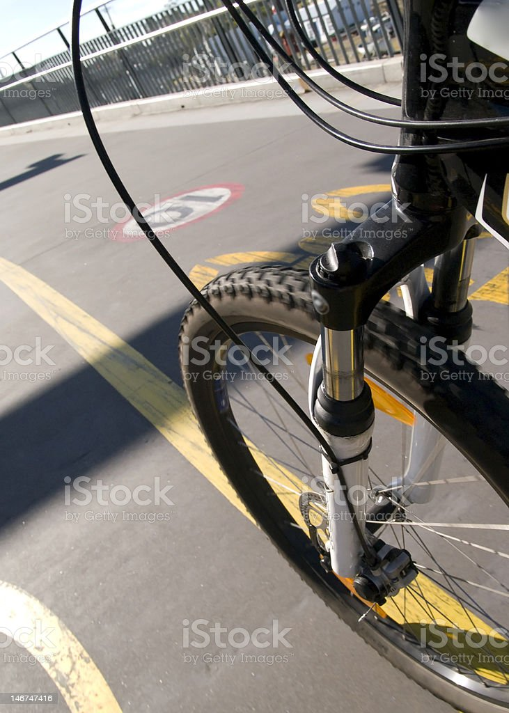 bicycle commute royalty-free stock photo