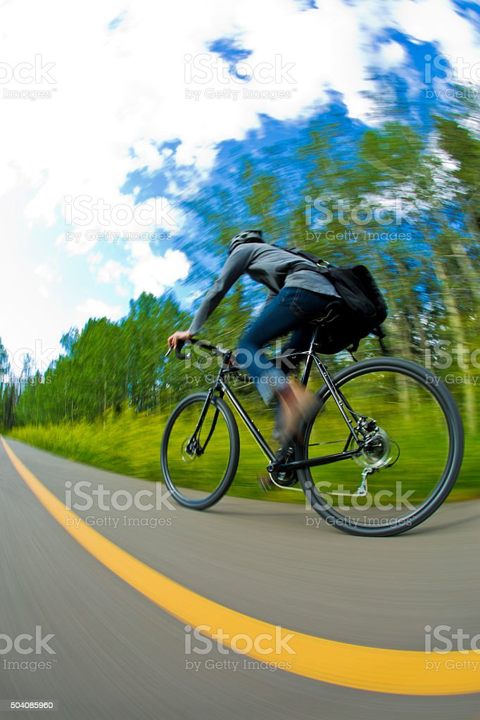 Bicycle Commuter Man stock photo