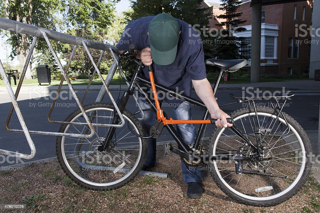 Bicycle Crime stock photo