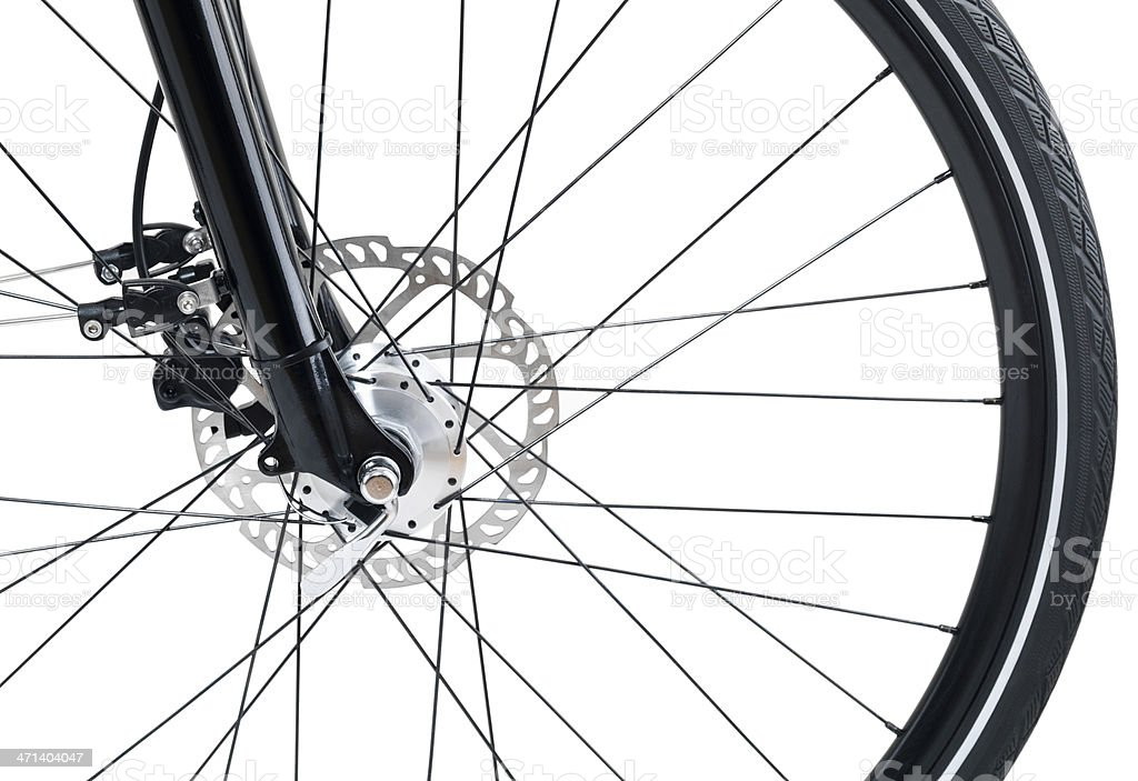 bicycle detail isolated on white stock photo