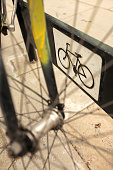 Bicycle dock on the street
