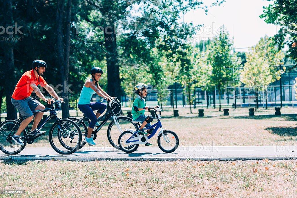Bicycle Family stock photo