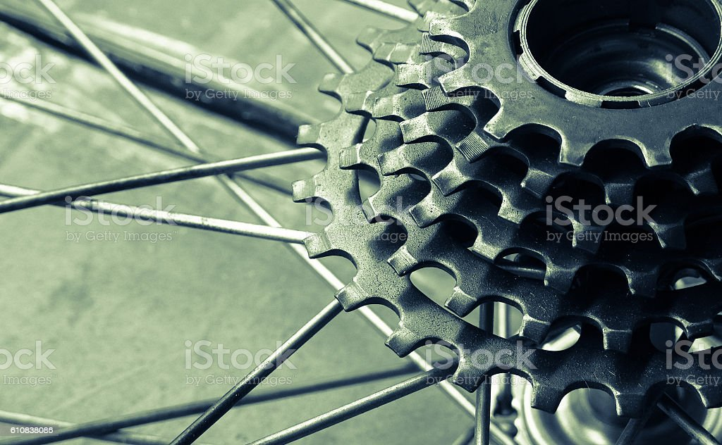 Bicycle gear cassette stock photo