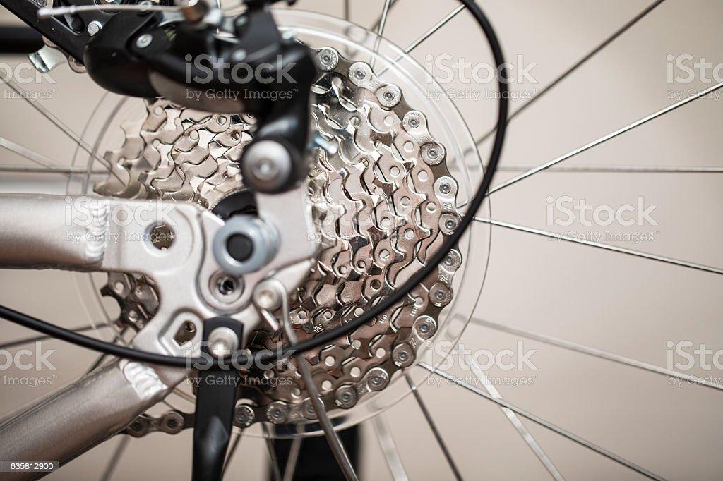Bicycle Gear Macro View stock photo