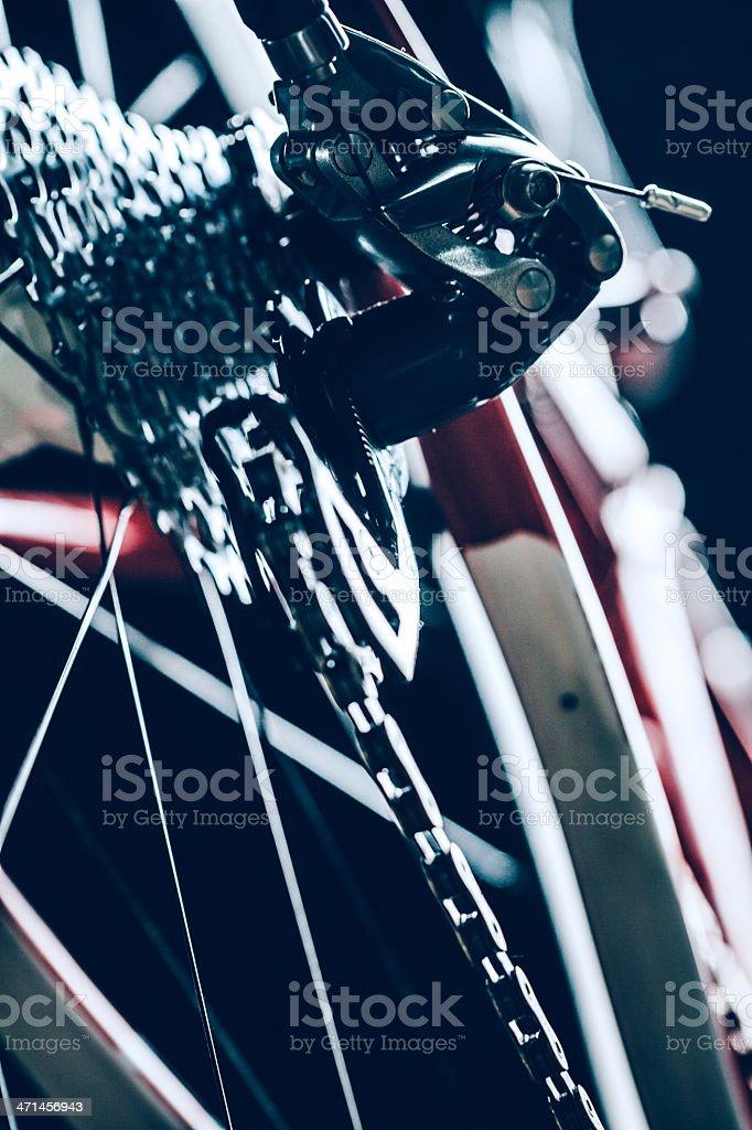 Bicycle Gears on Rear Wheel stock photo