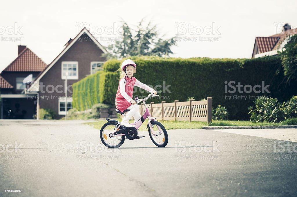 Bicycle Girl royalty-free stock photo