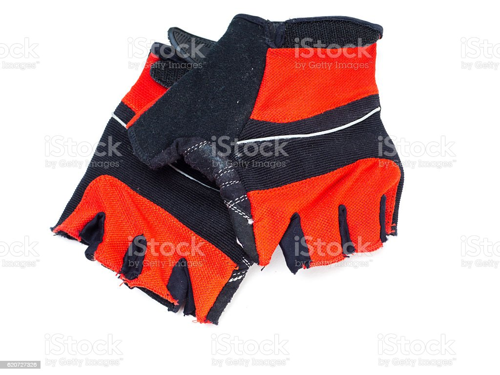 Bicycle gloves stock photo