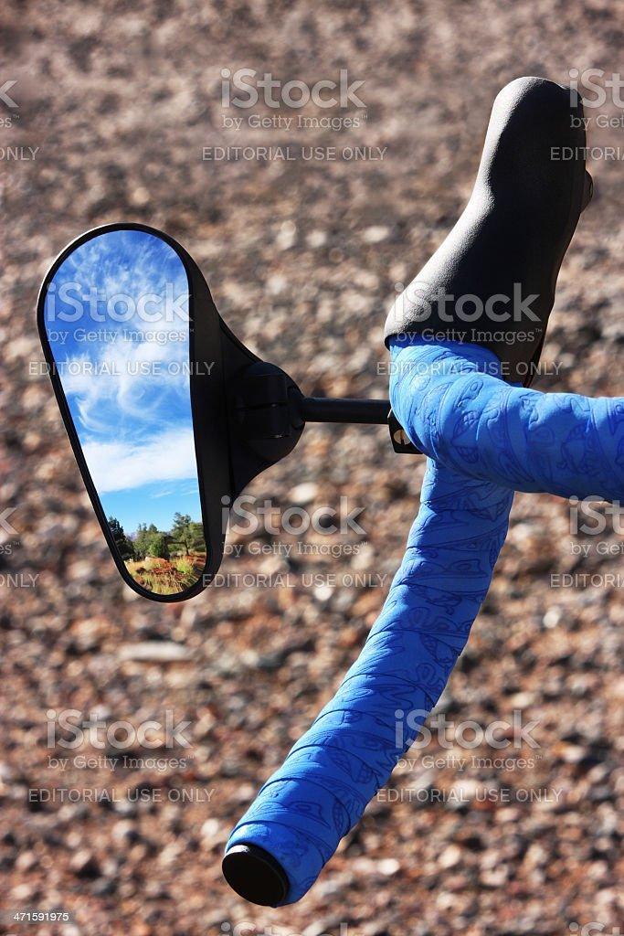 Bicycle Handlebar Side-View Mirror stock photo