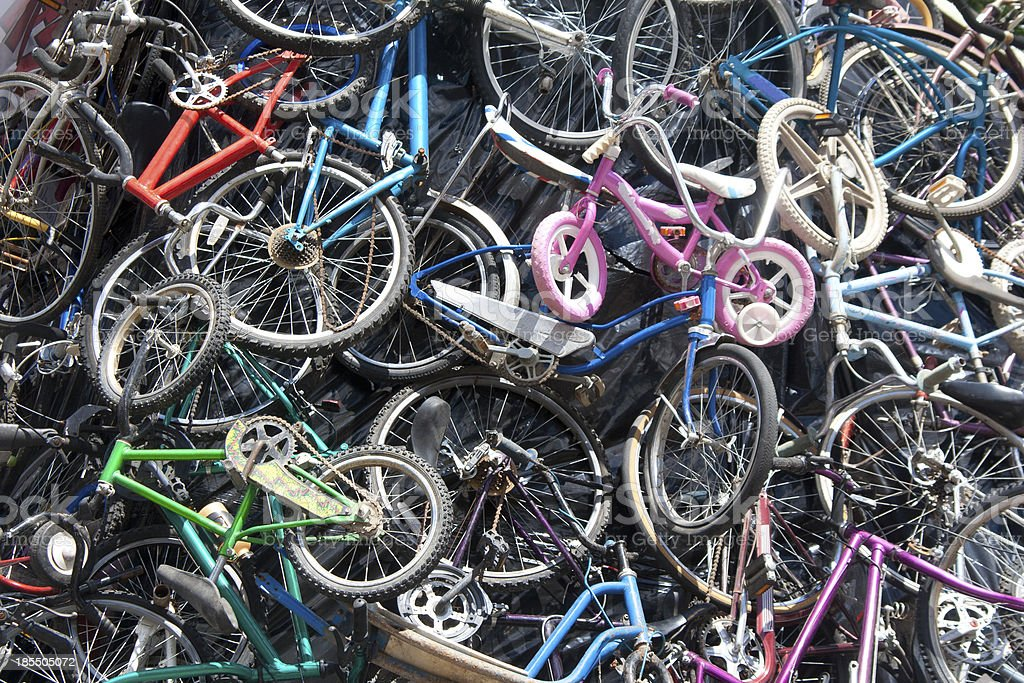 Bicycle Heap royalty-free stock photo