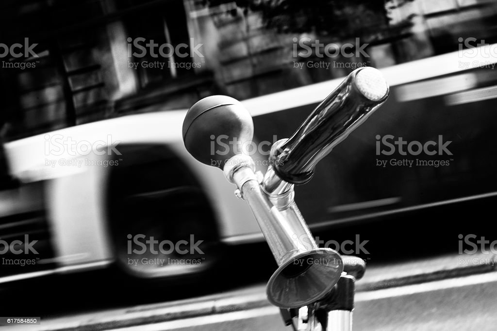 Bicycle horn stock photo