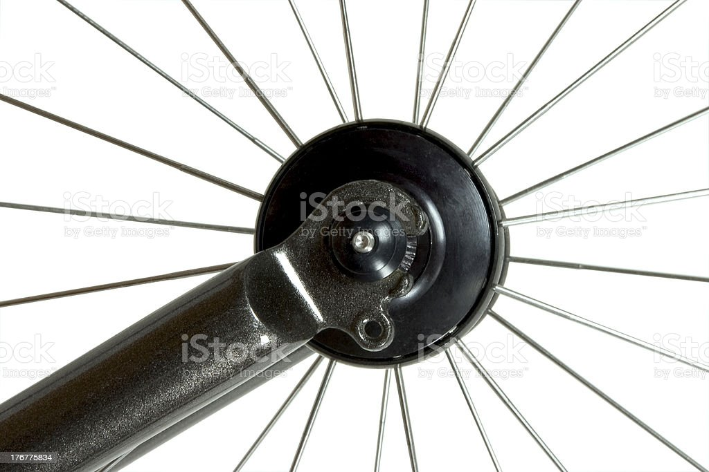 bicycle hub and spokes stock photo