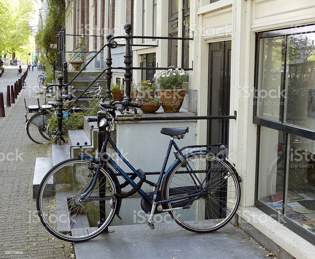 Bicycle in Amsterdam stock photo