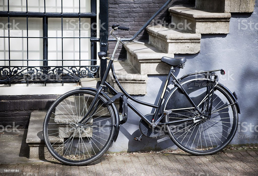 Bicycle in Amsterdam royalty-free stock photo
