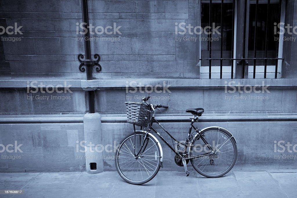 Bicycle in Cambridge stock photo