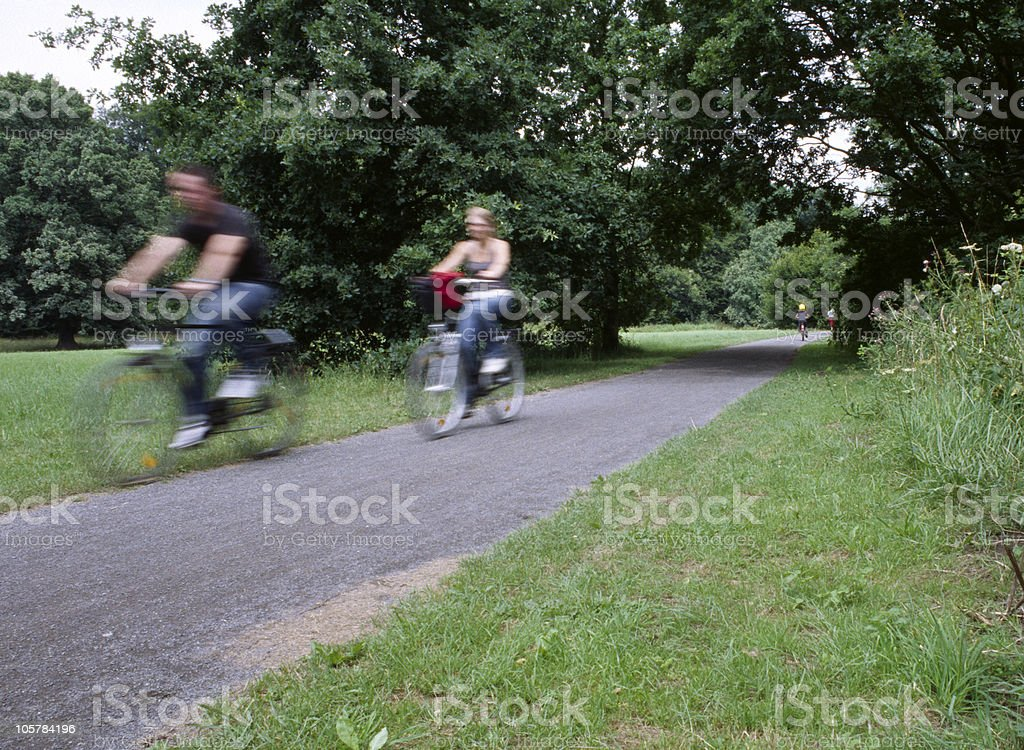 Bicycle in Park stock photo