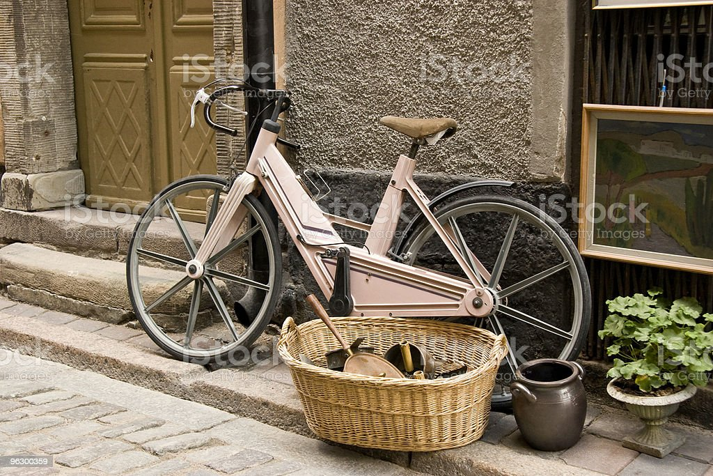 Bicycle in Stockholm, Sweden, Commuting, Human Powered Vehicle, City Life royalty-free stock photo