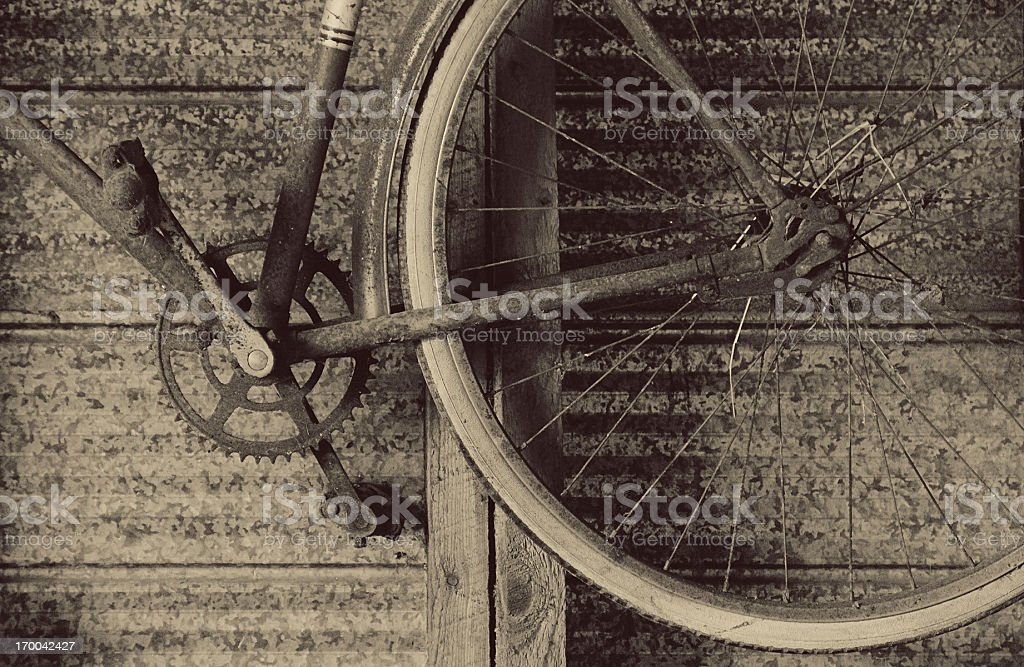Bicycle in the Barn royalty-free stock photo