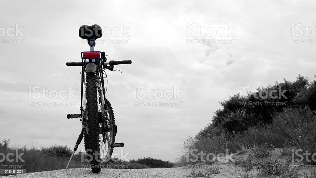 Bicycle in the dune area in Holland royalty-free stock photo