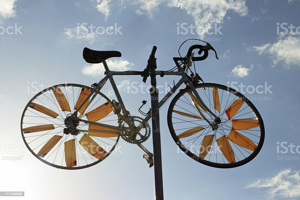 Bicycle in the sky royalty-free stock photo