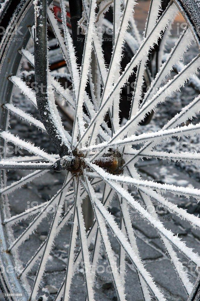 Bicicletta nella neve 3 foto stock royalty-free