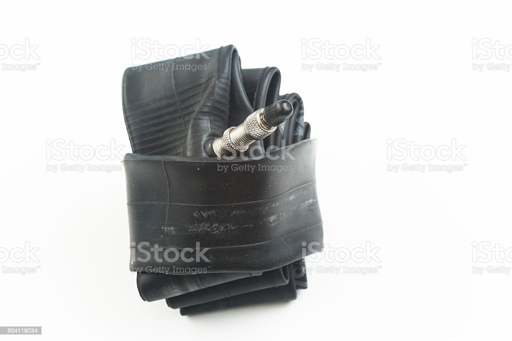Bicycle inner tube stock photo