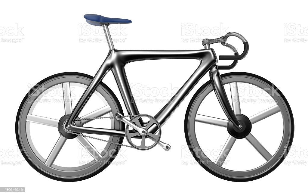 Bicycle isolated on white background. My own bicycle design stock photo