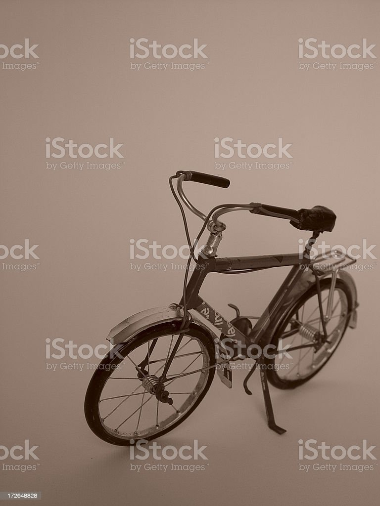 Bicycle - Isolated   retro royalty-free stock photo