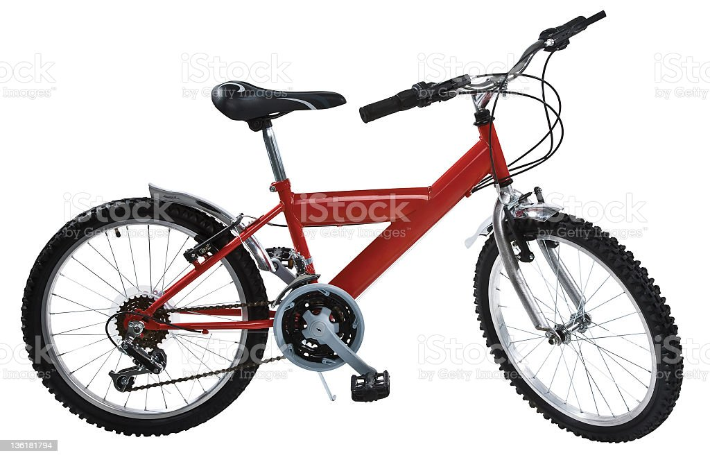 bicycle isolated with path royalty-free stock photo