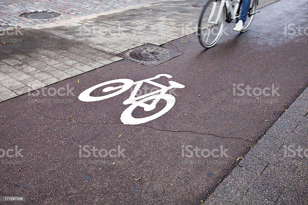 Bicycle lane royalty-free stock photo