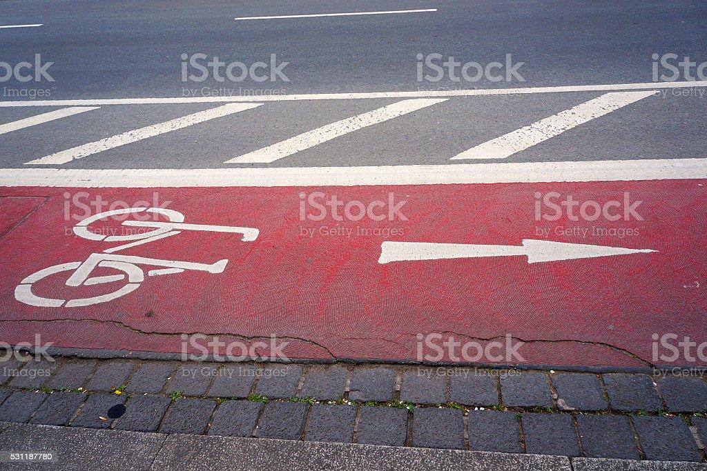 Bicycle lane. stock photo