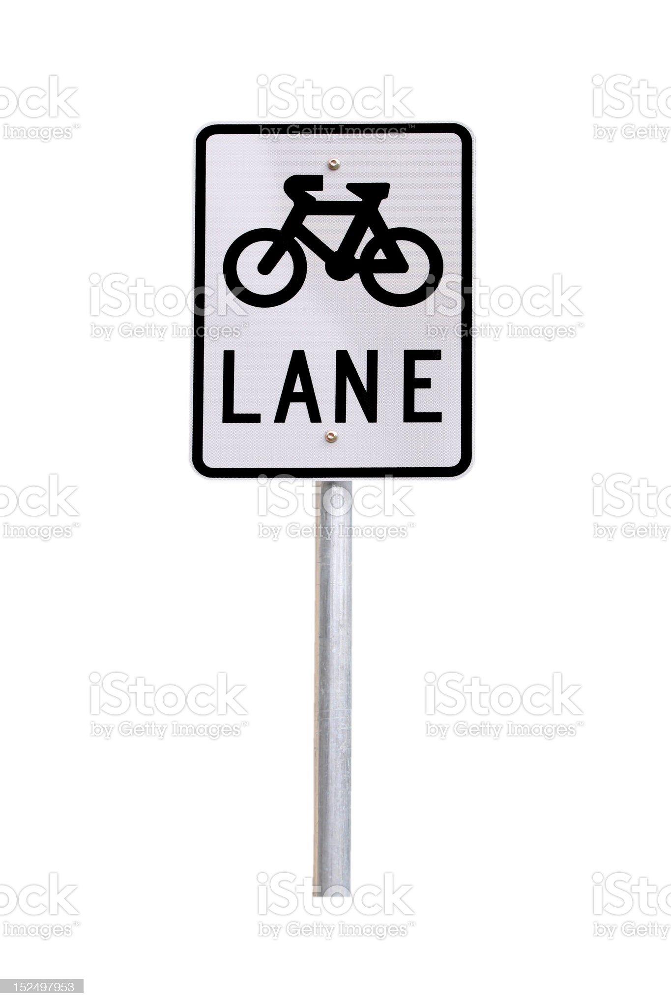 Bicycle Lane Traffic Sign - Australian royalty-free stock photo